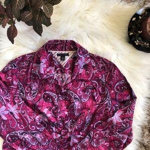 Tommy Hilfiger Bandanna Print Button Up Shirt